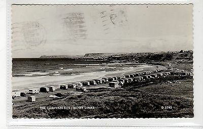 THE CARAVAN SITE, BANFF LINKS: Banffshire postcard (C27085)