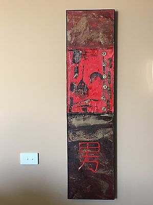 Red Abstract Asian Canvas Art