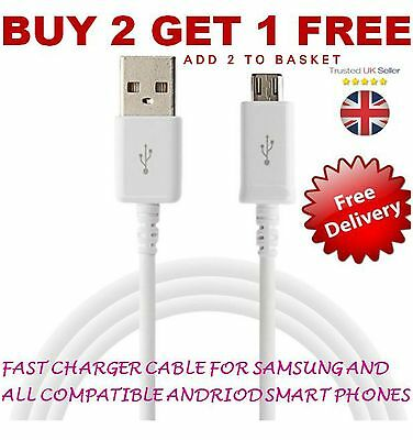 Genuine For Samsung Galaxy S7, Edge S6 Note 5/4 Fast Charger Lead USB Data Cable