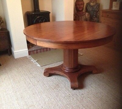 Antique Early 1900s American Wooden Dining Table Seats 6-8