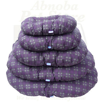Padded Oval Cushion Ideal Plastic Dog Bed Comfort & Warmth Reversible & washable