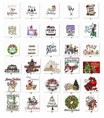 Personalized Return Address Labels Christmas Greetings Buy 3 Get 1 free (cb7)