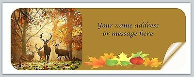 30 Personalized Return Address Labels Fall Autumn Buy 3 get 1 free (bo 924)