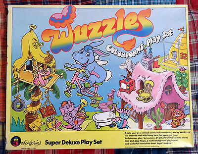 Vintage 1984 WUZZLES colorforms super deluxe play set Hasbro fold out WOW!