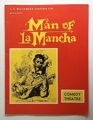 Man Of La Mancha 1967 Comedy Theatre Program Melbourne Suzanne Steele