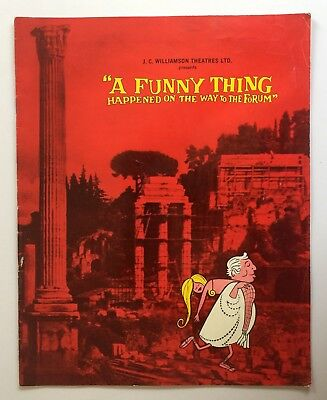 A Funny Thing Happened On The Way To The Forum 1964 Theatre Program Royal Sydney