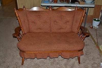 Gorgeous Vintage Tell City Andover #48 Maple Love Seat Rocker  Design #8202 1/2