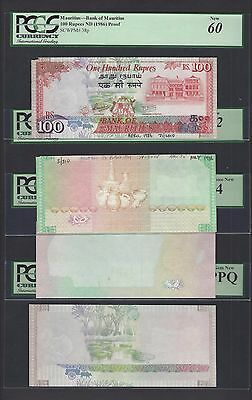 Mauritius 4 Notes 100 Rupees ND(1986) P38ps Specimen Progressive Proof UNC
