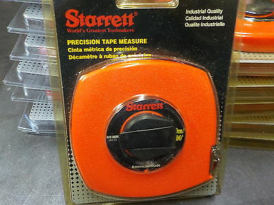 Starrett Precision 30M Steel Tape Measure,30m,100 ft Made in the USA metric/inch