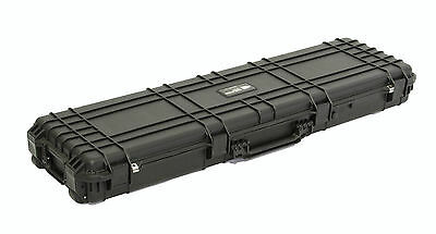"Double Rifle Hard Case 53"" 135cm Rifle Tactical Hunting Airline Approved Trolley"