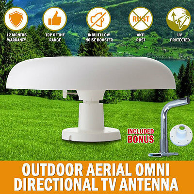 NEW 12Volt Directional TV Antenna Outdoor Aerial booster DAB UHF/VHF Caravan RV