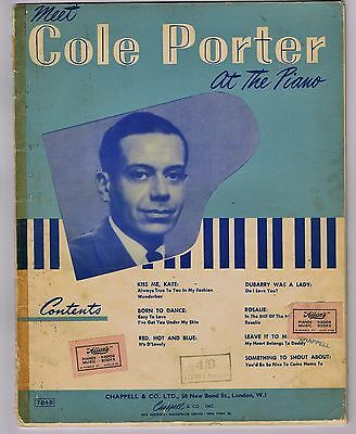 VINTAGE 'COLE PORTER AT THE PIANO' SHEET MUSIC BOOK 24 pages