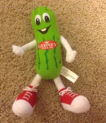 Vintage Minnesota Gedney Pickles Plush Fabric Doll Advertising Toy