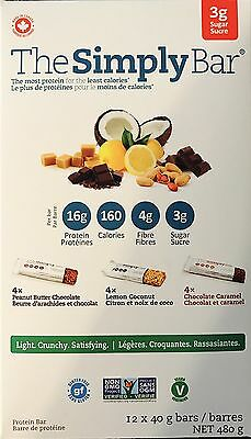 The Simply Bar - Protein Bars - Variety Pack - 12 X 40g