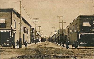 A Quiet Day On Davenport Street, Looking East, Rhinelander, Wisconsin WI