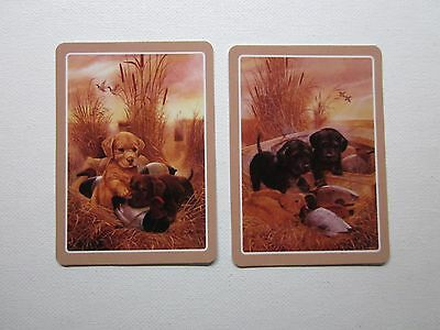 TWO  SWAP CARDS - FABULOUS PUPPIES - DOGS - ART - Unused Condition