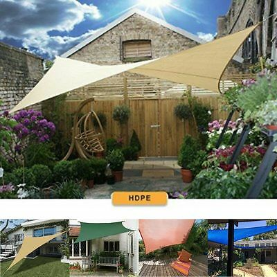 Sun Shade Sail UV Top Cover Outdoor Canopy Patio Triangle Square Rectangle W Bag