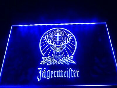 Jagermeister LED Neon Light Sign Hang Sign Home Decor Craft Club Gift Lamp Craft