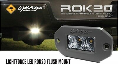 Lightforce LED ROK20 Flush Mount Flood Work Light 20W (2x10W CREE) 5000K CBROK20
