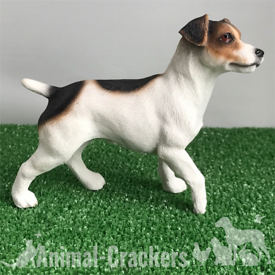 Realistic adorable Jack Russell figurine ornament, 15cm, gift boxed.