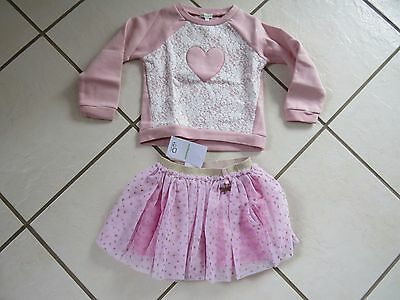 New  Girls Clothing Bundle,Set Pink from Vertbaudet Pink, Age 4 years, skirt,top