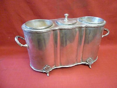 Antique Vintage Style Pewter 2 Bottle Wine Champagne Chiller
