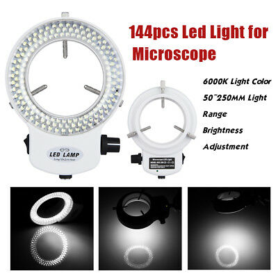 144LED Mikroskop Ringlicht Ringleuchte Microscope Ringbeleuchtung einstellbar DE