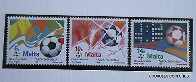 Malta Post Office Card 1990 June World Cup Soccer  Set Of 3  #msp17