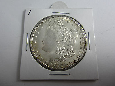 1921 United States Morgan Dollar in Uncirculated cond. No wear, some bagging