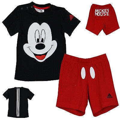 adidas DISNEY Mickey Mouse SS Kinder BABY SUITS Trainingsanzug  [ 80 - 104 ] NEU
