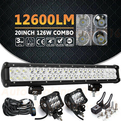 20INCH LED Fog Light Bar Combo Driving Work Offroad Truck Boat ATV 4WD 4x4