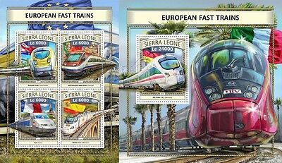Z08 IMPERFORATED SRL161111ab SIERRA LEONE 2016 European almost trains MNH Mint