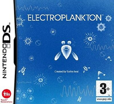 Electroplankton (Nintendo DS) 3DS Interactive Music Game Rare Complete Manual