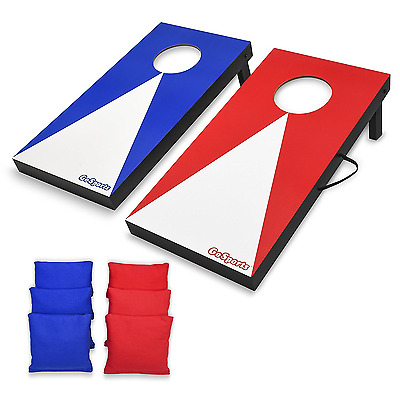 Portable Cornhole Game Set Bean Bag Toss Tailgate Lawn Office Indoor Outdoor