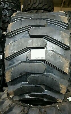 (4) 31X15.5-15 HD Skid Steer Tires Solideal Xtra Wall Bobcat 31 15.50 15 15.5