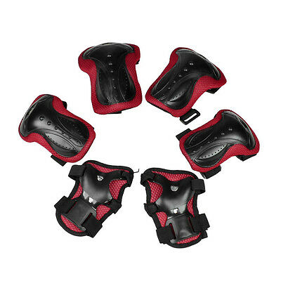 Skating Pads Palm Knee Elbow Support Protector Black Red for Lady Man BF