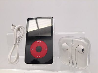Apple iPod Classic 5th Generation U2 Special Edition Black/Red (30GB) + Extras