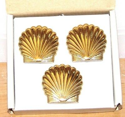 "PartyLite ""SEACREST SECRETS MARINS"" - solid brass decorations for hurricanes-NIB"