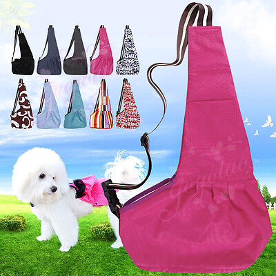 Pet Dog Cat Puppy Oxford Cloth Sling Carrier Travel Tote Shoulder Bag Kennel