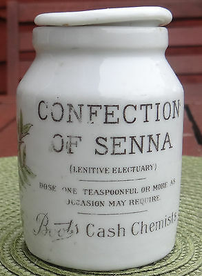Advertising Printed Pot Lid &base Boots Cash Chemist.confection Of Senna.1910