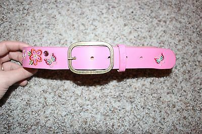 The Childrens Place PIPPI Style Butterfly Flowers Pink Belt sz 24M to 4T Toddler