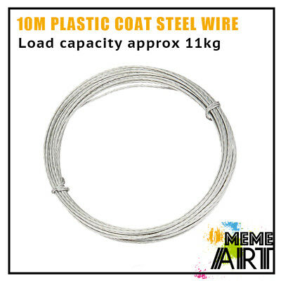Picture Framing Hanging Plastic Coated  Steel Wire 10m Weight Load 11.3kg