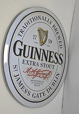 """Official GUINNESS HARP EXTRA STOUT Guinness Label 17"""" Oval Mirror BEER SIGN"""
