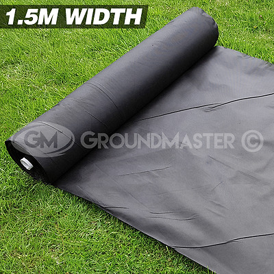 1.5M Wide Groundmaster Weed Control Fabric Landscape Ground Cover  Membrane