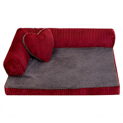 Newest Pet Bed Dog Removable Sofa Kennel Cat Sleeping Mat Practical Pad Cushion