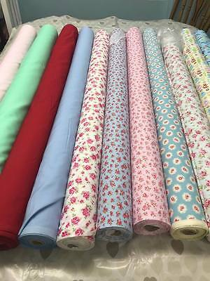 100% cotton fabric, metre, vintage floral, cath kidston, rose and hubble