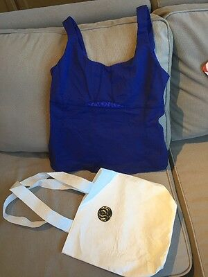 LULULEMON yoga/fitness Purple tank top  SIze 6, Lululemon Bag Included!