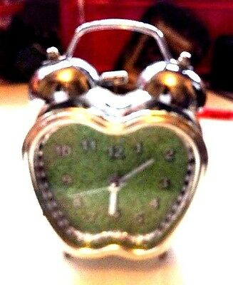 Vintage Clock Battery Clock In The Shape Of An Apple