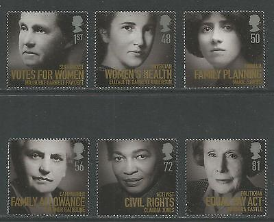 Great Britain 2008 Famous Women--Attractive Topical (2601-06) MNH