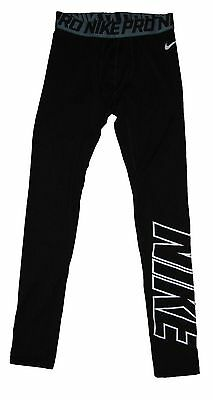 Nike Boys NIKE PRO COMBAT Stay Warm Compression Training Tights 839156 BLACK S